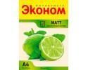 Фотобумага матовая односторонняя Эконом, 300г/А4/50л