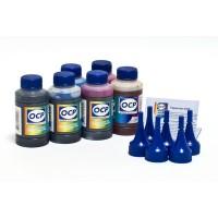 Комплект чернил OCP (BK 140 (340), C/M/Y 140, ML/CL 141) для картриджей EPS Clar, обеспечивающий повышенную светостойкость отпечатков, 100 gr x 6
