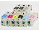 Нано-картриджи BURSTEN 2- го поколения SC3 для принтеров EPS R3000 x 9, с патентованным замком-защёлкой, модернизированным клапаном, чернильным/воздушными фильтрами тонкой очистки, без чернил