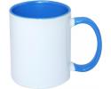 Кружка СТАНДАРТ цветная внутри и ручка светло/синяя